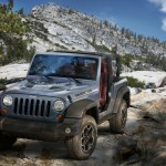 2013-er Jeep-Wrangler Rubicon 10th Anniversary Edition in der Frontansicht