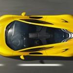 Der McLaren P1 von oben betrachtet