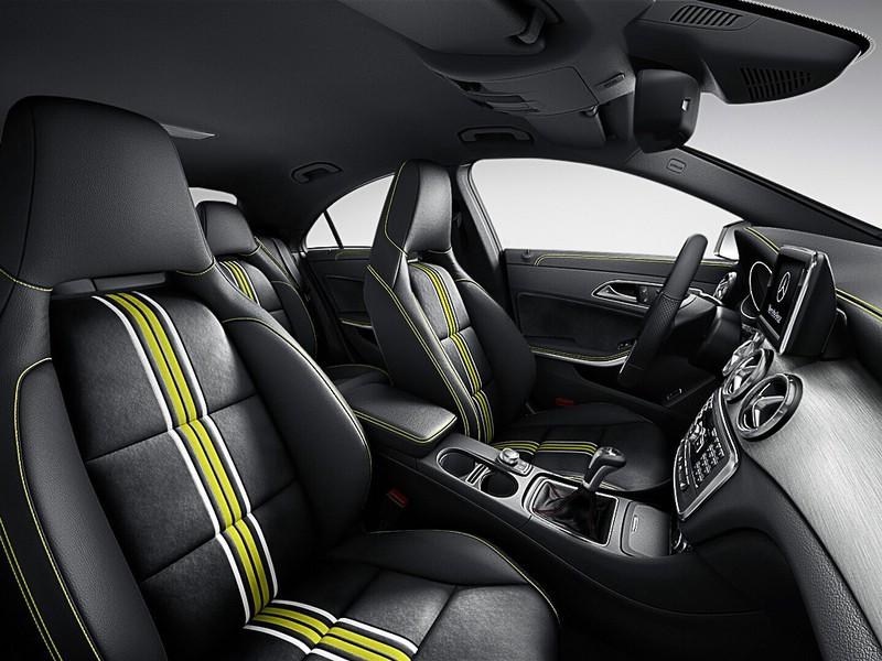 Der Innenraum des Mercedes-Benz CLA Edition 1
