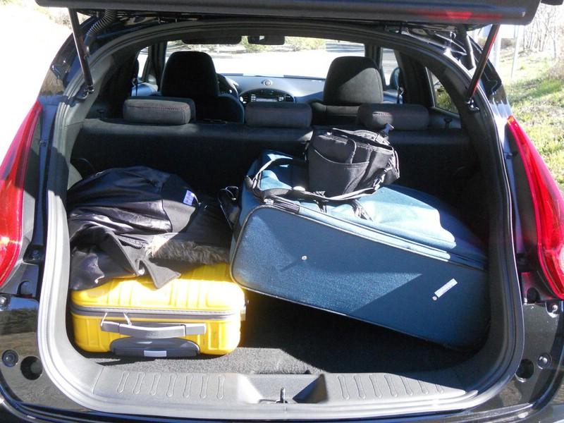 Der Kofferraum des Nissan Juke Nismo mit 251 Liter Volumen
