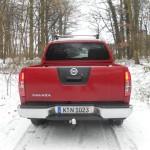 Das Heck des Pickups Nissan Navara