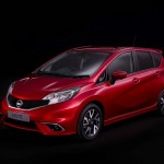 Roter Nissan Note Modellgeneration 2014