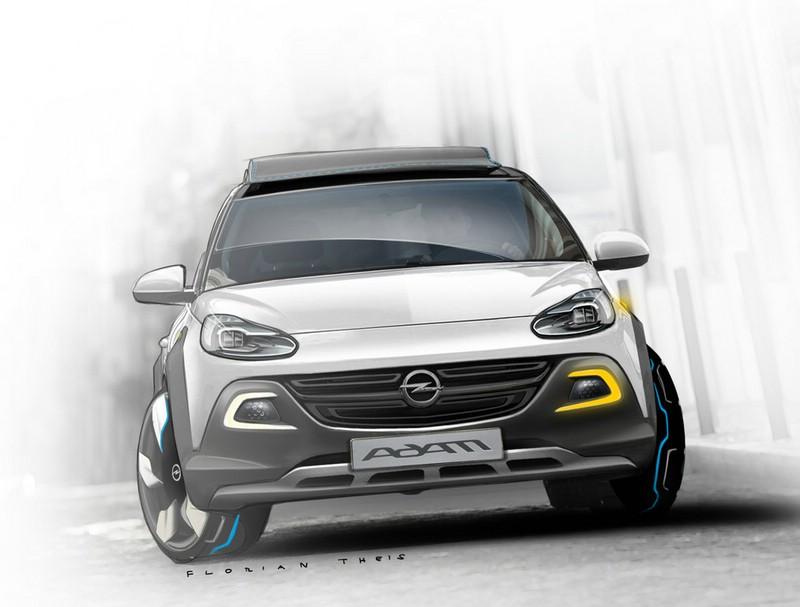 Opel Adam Rocks Conzept in der Frontansicht