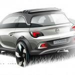 Opel Adam Rocks Conzept in der Heckansicht