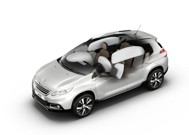 das Airbagsystem des Peugeot 2008