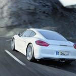 Die Heckpartie des neuen Porsche Cayman 2013