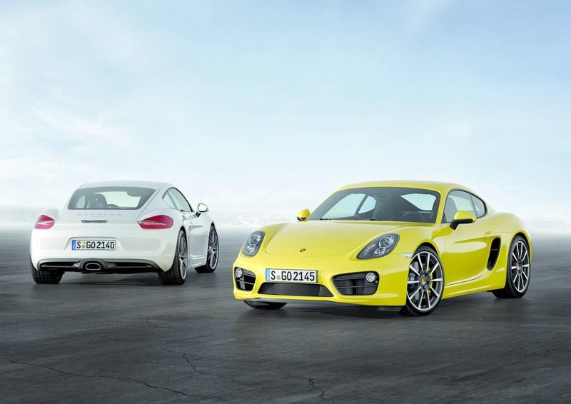 Porsche Cayman und Cayman S Typ 981c in Gelb und in Weiss