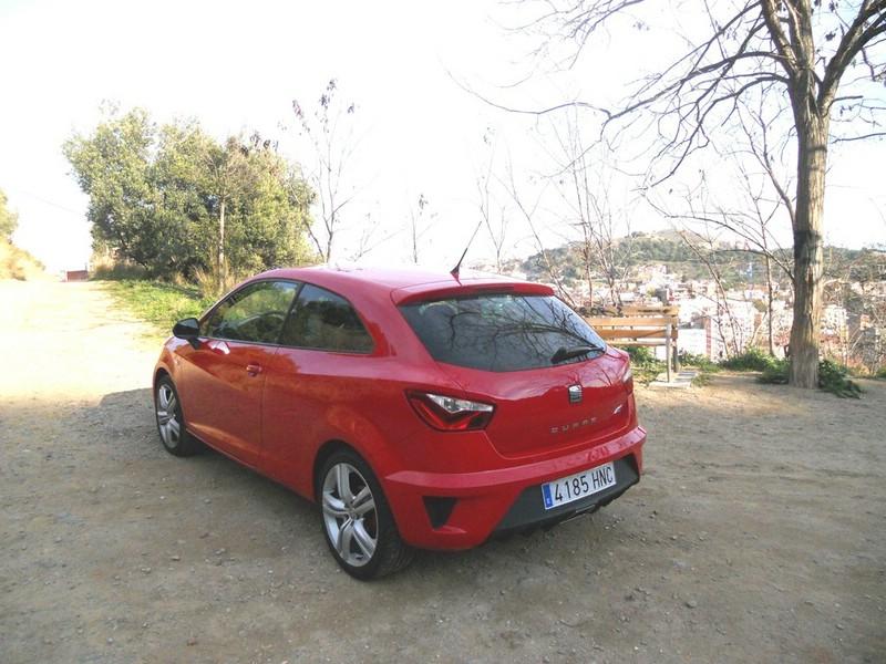 Die Heckpartie des Seat Ibiza Cupra (Modelljahr 2013