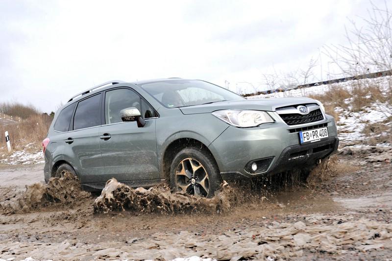 Subaru Forester 2013er Modellgeneration im Schlamm