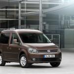 VW Caddy 2013er in der Frontansicht