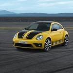 Volkswagen Beetle GSR in gelb-schwarze Karosserie