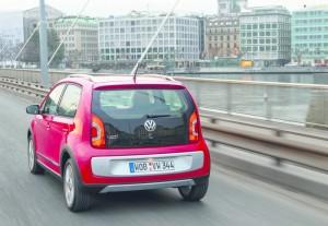 Volkswagen Cross Up in der Heckansicht