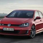 VW Golf GTD in Rot in der Frontansicht