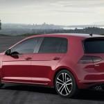 Der neue VW Golf GTD in der Seiten- Heckansicht