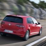 Die Heckpartie eines 2013-er VW Golf GTD