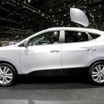 Die Seitenpartie des Hyundai ix35