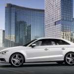 Audi A3 Limousine in weiss in der Seitenansicht