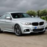 Silberner BMW 335i Gran Turismo 2013er