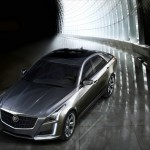 Cadillac CTS 2014 in silber (Front, Seite)