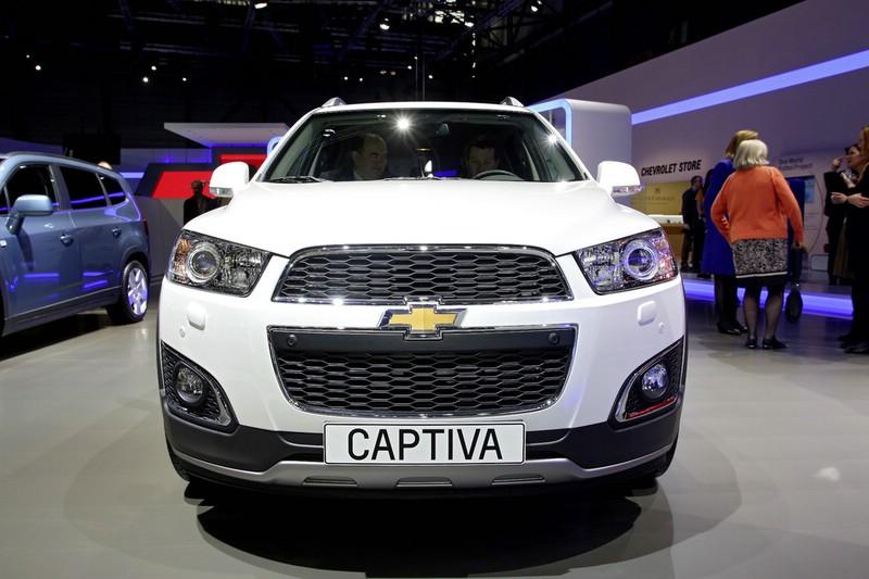 Der Kühlergrill des Chevrolet Captiva