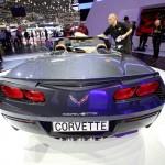 Corvette Stingray Cabriolet in der Heckansicht - Genfer Autosalon 2013