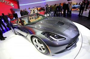Corvette Stingray Cabriolet in der Frontansicht - Genfer Auto-Salon 2013