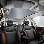 Das Interieur des Fiat 500L Trekking Sitze in Leder