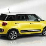 Gelber Fiat 500L Trekking Fotos vom Außendesign