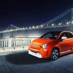 Fiat 500e mit Elektroantrieb in Orange
