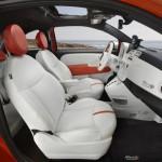 Das Interieur des Fiat 500e
