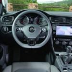 Der Sicht des Fahrers im Volkswagen Golf
