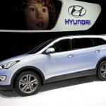 Der neue Hyundai Grand Santa Fe in der Seitenansicht