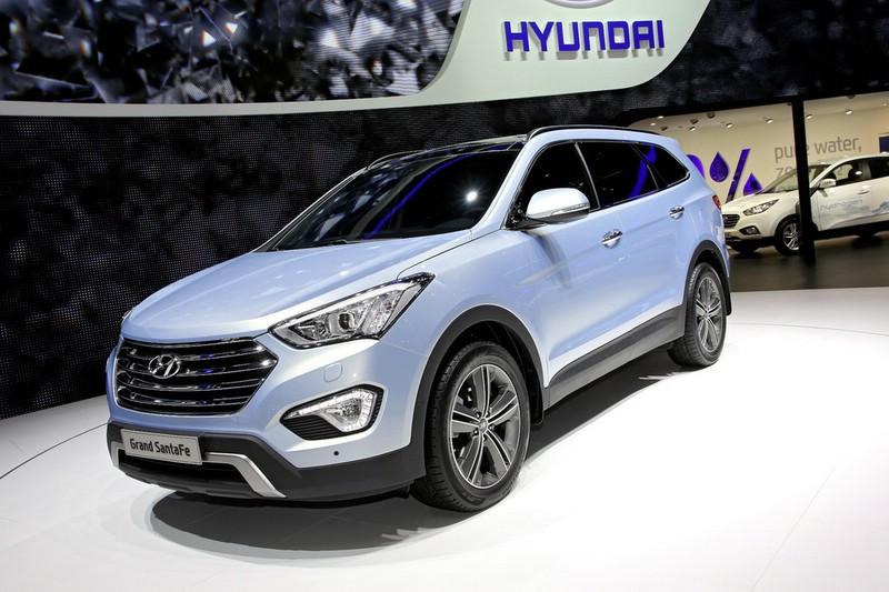 Hyundai Grand Santa Fe Exterieur Bilder aus Genf