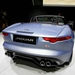 Die Auspuffrohre (4 Stück) des Jaguar F-Type