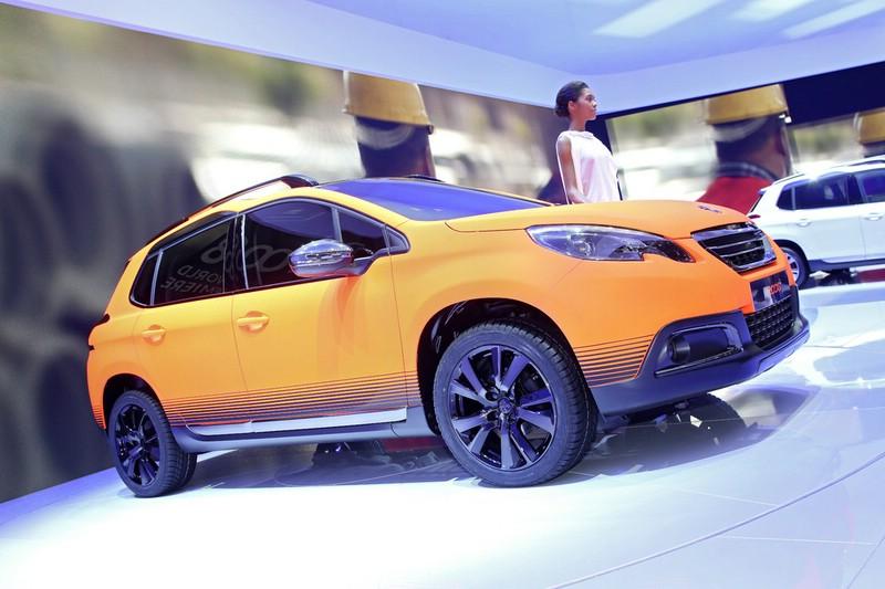 Die Seitenpartie des Peugeot 2008