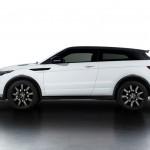 Range Rover Evoque Black Design in der Seitenansicht