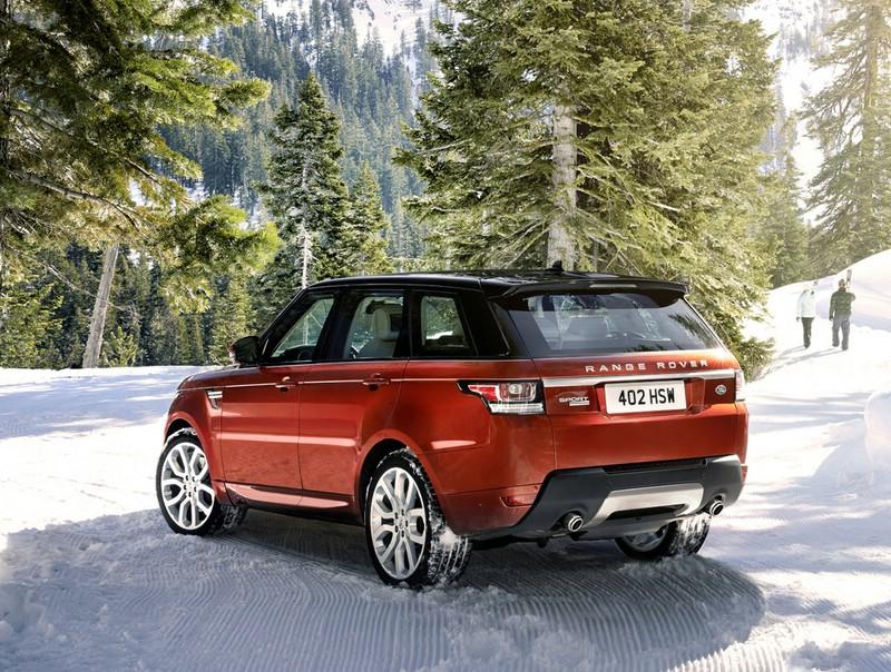 2013 Range Rover Sport in der Heckansicht
