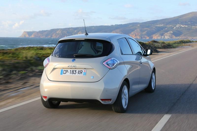 Die Heckpartie des kompakten Renault Zoe