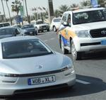 Der neue VW XL1 bei den Tests (Fahraufnahme)