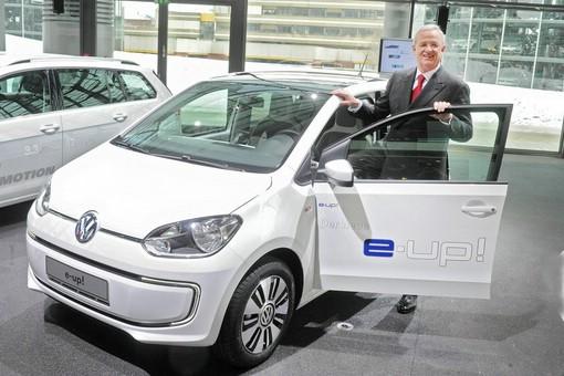 Volkswagen e-up präsentiert von Martin Winterkorn