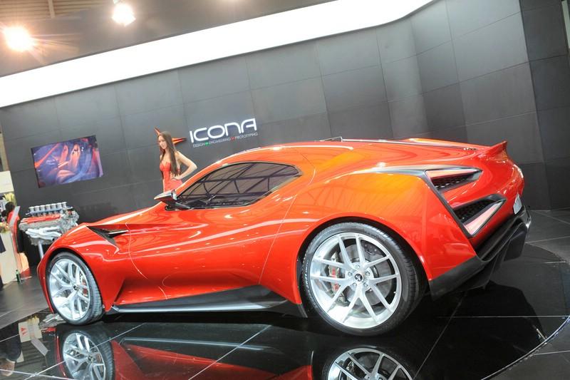 Icona Vulcano in der Außenfarbe Red Magna