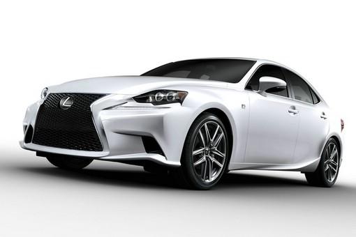Lexus IS F-Sport in weiss Exterieur Aufnahme