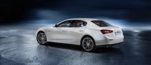 Seiten und Heckpartie des Maserati Ghibli