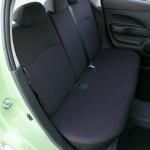 Die hinteren Sitze des Mitsubishi Space Star