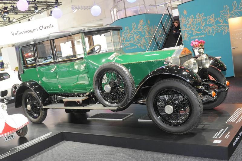 1922er Rolls-Royce Silver Ghost in grün auf der Techno Classica 2013