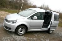 Silberner VW Caddy 2.0 TDI 4Motion DSG 2013er
