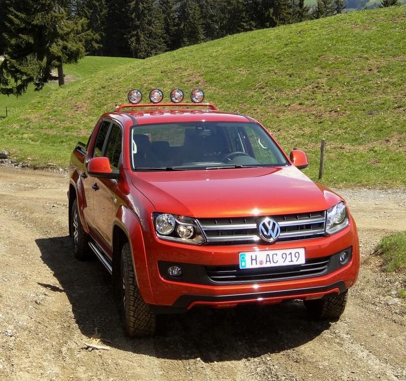 Die Frontpartie des VW Amarok Canyon