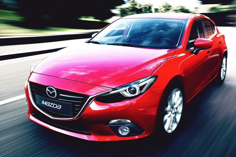 Die Frontpartie des Mazda3 Generation 3