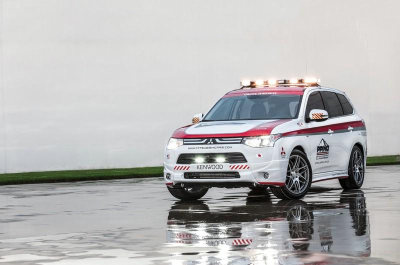 2013er Mitsubishi Outlander Pikes Peak Safety Car Exterieur