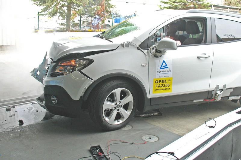 Opel Mokka nach dem Crashtest